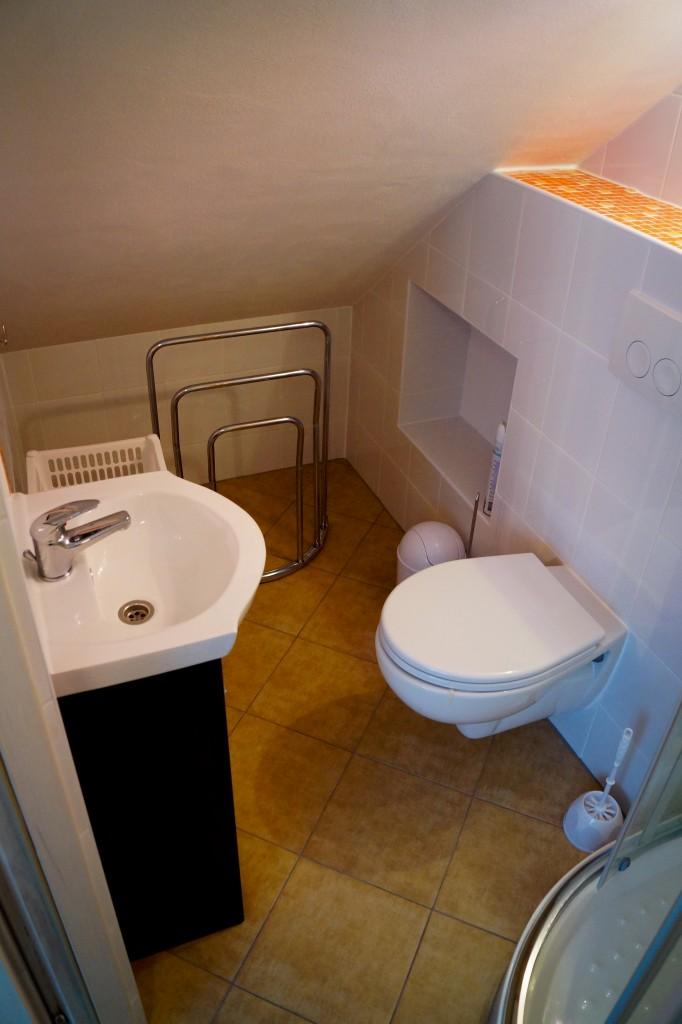 Łazienka  w pokoju podróżniczym